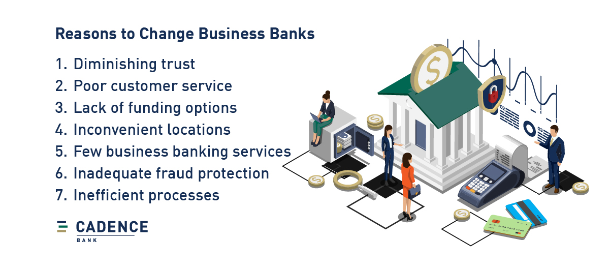 7 common reasons to change business banks