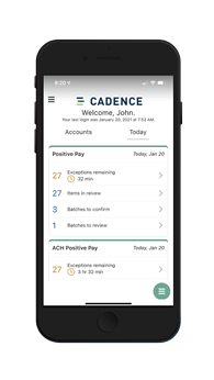 New Cadence Mobile Banking App